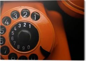 Orange Retro Phone close up