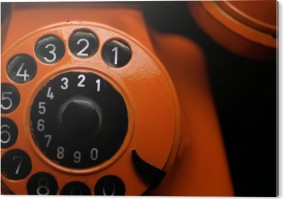 Orange Retro Phone close up